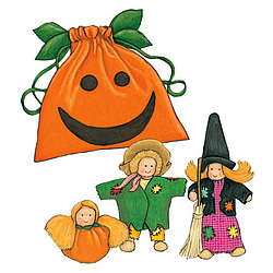 Dollies in a Pumpkin