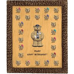 Personalized Retirement Plaque for Policeman