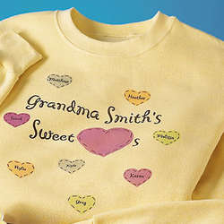 Personalized Yellow Sweethearts Sweatshirt