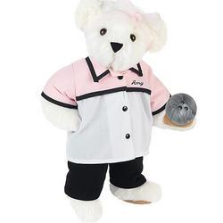 """15"""" Bowling Lady Teddy Bear"""