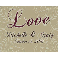 Personalized Love Wall Canvas