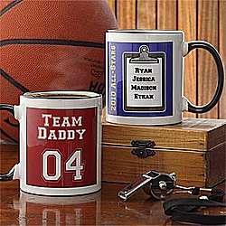 Team Daddy Personalized Coffee Mug