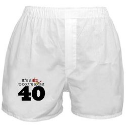 Look Good 40 Birthday Boxer Shorts