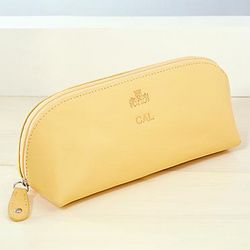 Monogrammed Leather Cosmetic Case