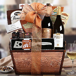 California Chardonnay and Syrah Gift Basket