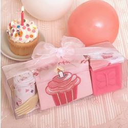 Girl's First Birthday Cupcake Gift Set