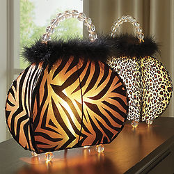 Queen of the Jungle Animal Print Purse Lamp