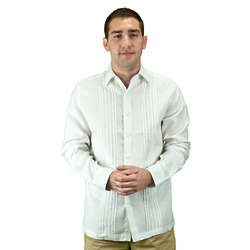 Men's White Linen Beach Wedding Shirt
