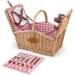 New Orleans Saints Piccadilly Willow Picnic Basket