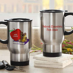 Personalized Teacher Teddy Bear Travel Mug