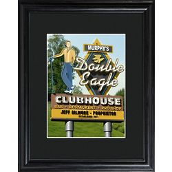 Marquee Double Eagle Personalized Framed Golf Print