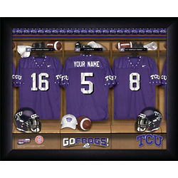 Personalized TCU Frogs Football Locker Room Print