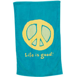 Aqua Blue Life Is Good Elemental Peace Bath Towel