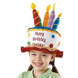 Personalized Youth Birthday Candle Hat
