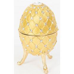 Swan Lake Royal Gold Musical Egg Trinket Box
