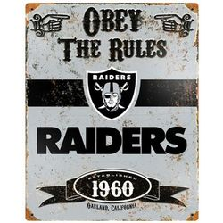 Oakland Raiders Vintage Metal Sign