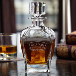 Timeless Wedding Party Personalized Liquor Decanter