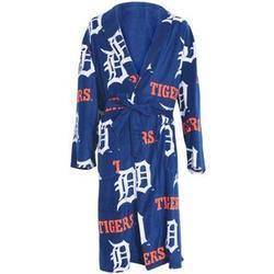 Detroit Tigers Men's Microfleece Robe in Royal Blue