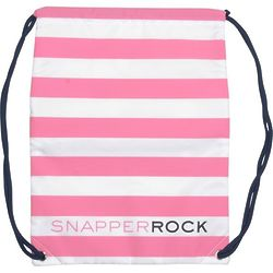 Swim Bag with Pink and White Stripes
