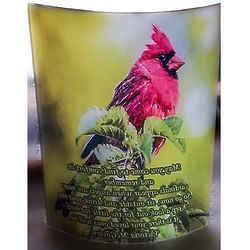 Cardinal Clear Acrylic Curved Panel with Poem