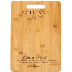 Bless Us O Lord Bamboo Cutting Board