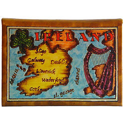 Ireland Map Leather Photo Album in Color