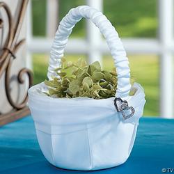 Double Heart Wedding Basket