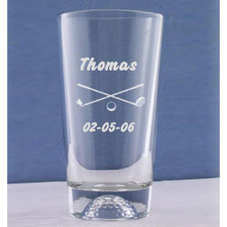 Personalized Golf Ball Pub Glass