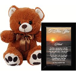 I Miss You Love Poem and Teddy Bear