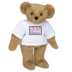 "15"" Aquarius Astrological Cartoon T-Shirt Teddy Bear"