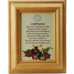Confirmation Blessing Framed Print with Pressed Flowers