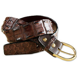 Genuine Hornback Crocodile Leather Belt