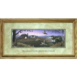 Day's End Farm Scene Framed Sympathy Print