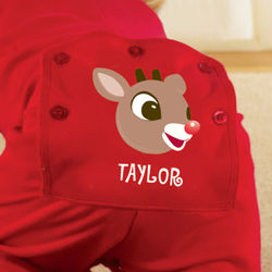 Personalized Rudolph the Red-Nosed Reindeer Baby Long Johns