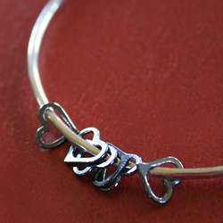 Besos XO Bangle Bracelet in Sterling Silver