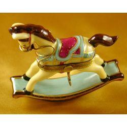Rocking Horse Pastel Limoges Box