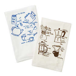 Tea and Coffee Tea Towels Set