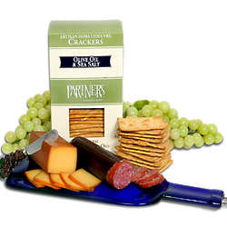Bottle Board, Cheese, Sausage and Crackers