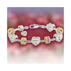 Personalized Mom Charm Bracelet