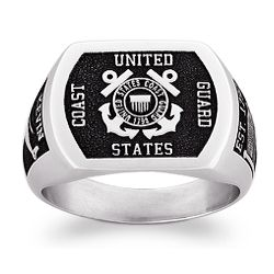 Personalized Military and Service Rectangle Signet Ring