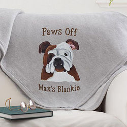 Top Dogs Personalized Sweatshirt Blanket