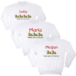 Personalized Twins, Triplets, and Quadruplets Youth Sweatshirt