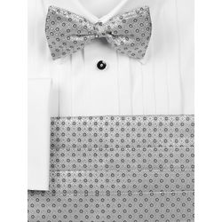 Textured Italian Silk Bow Tie and Cummerbund