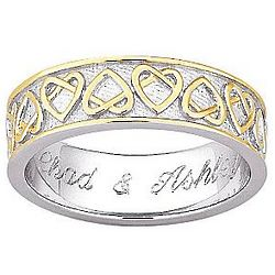 Personalized Celtic Heart Wedding Band