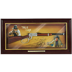 John Wayne True Grit Commemorative Rifle Wall Display