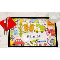 Personalized Placemat with Cartoon Characters