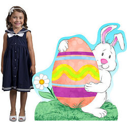 Easter Bunny and Egg Standee