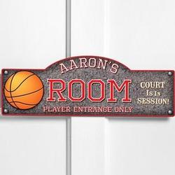Personalized Hoops Room Sign