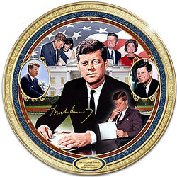 John F Kennedy Heirloom Porcelain Commemorative Plate