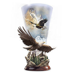 Mountain Majesty Sculpted Eagle Torchiere Lamp